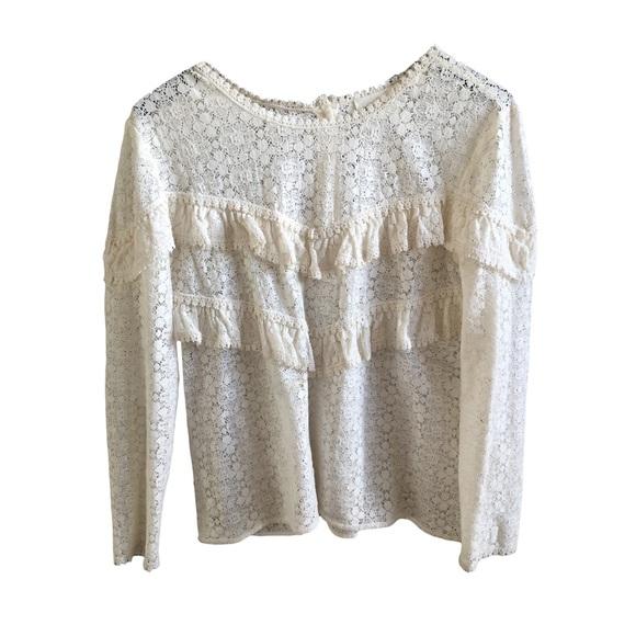 eb53352306691 Sezane white blouse Ninon Sézane. M 5b076673f9e501f974c6dc91